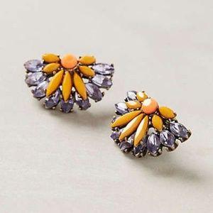 Anthropologie Citrus Slice Post Earrings